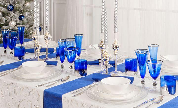Контрастное оформление праздничного стола