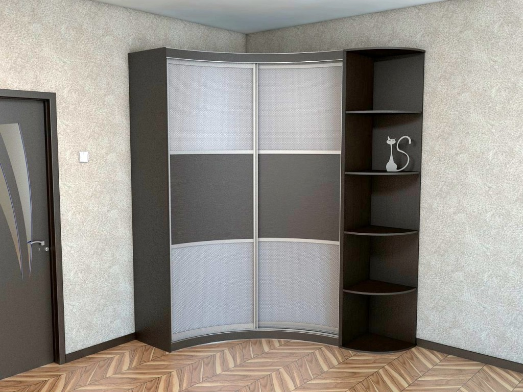 Угловой радиусный вариант шкафа