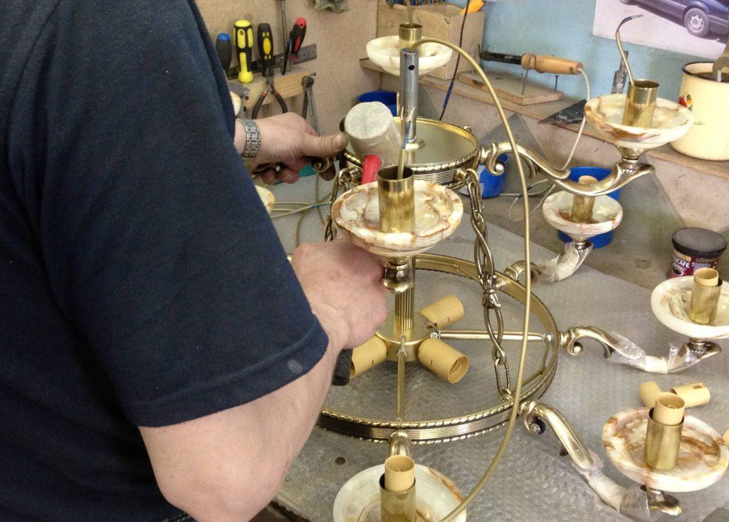 Изготовление люстры