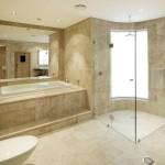 Фото 11: Дизайн ванной комнаты в нейтральных тонах