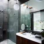 Фото 86: Цементная плитка в ванной под бетон