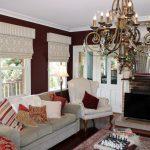 Фото 53: Римские шторы в классическом стиле с ламбрекенами