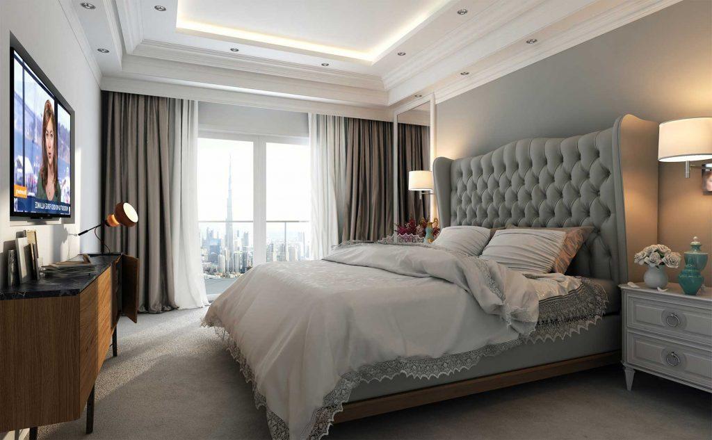 Элитная кровать в спальне