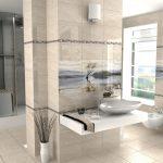 Фото 92: Большая плитка с рисунком в ванной