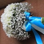 Фото 6: Свадебный букет с гипсофилой