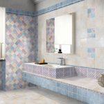 Фото 88: Цементная плитка пэчворк в ванной