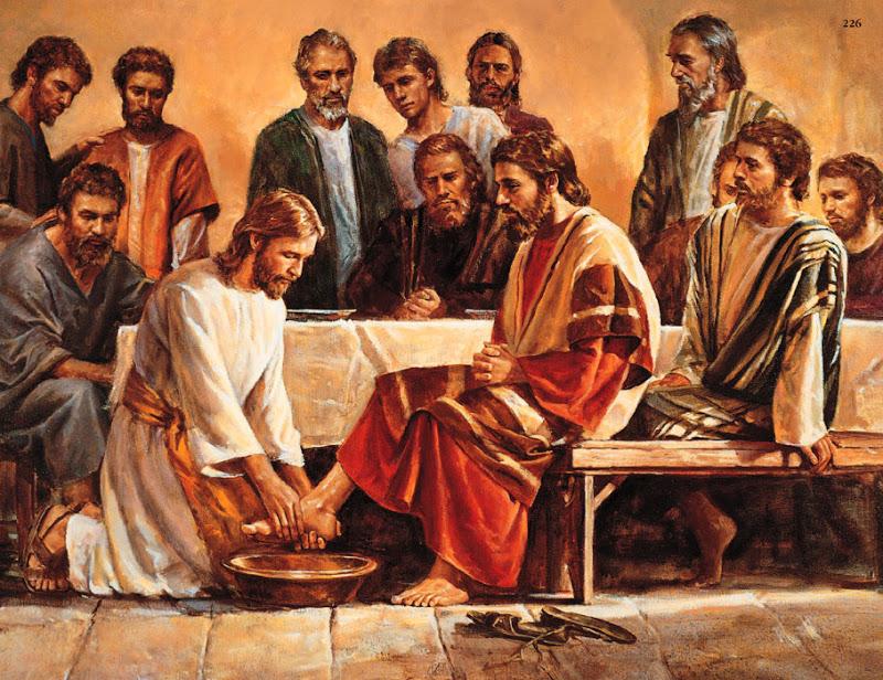 Омовение ног своих учеников Иисусом