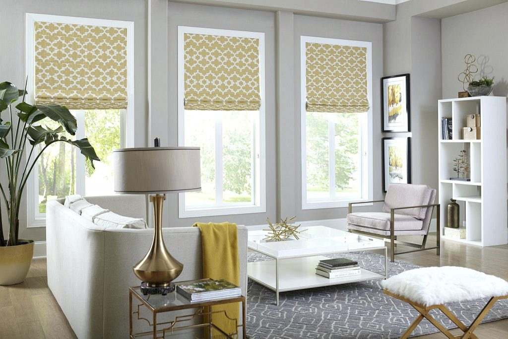 Римские шторы в классическом стиле