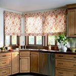 Фото 61: Цветочные римские шторы в стиле прованс