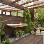 Фото 19: Экостиль ванного помещения