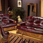 Фото 59: Элитный резной диван, обтянутый кожей