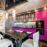 Фото 120: Люстры на кухне в стиле гламур