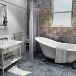 Фото 66: Плитка пэчворк градиентной мозаикой