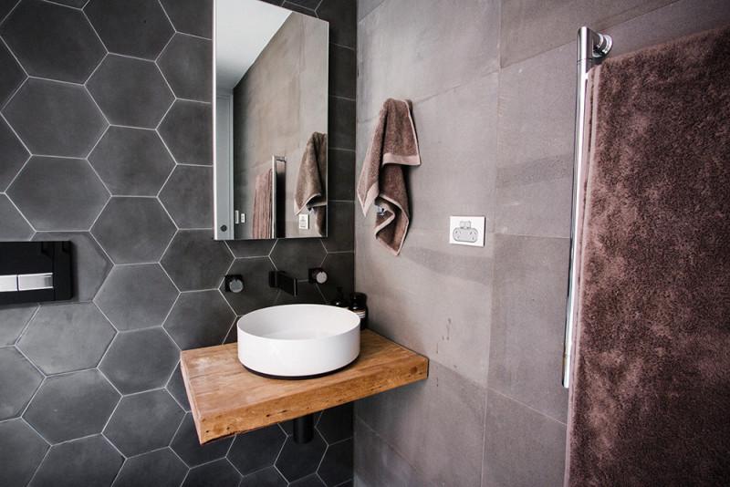 Плитка для ванной шестиугольной формы
