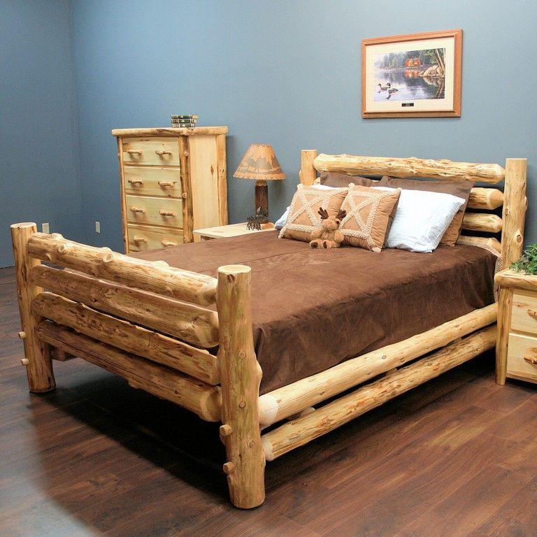 двуспальная кровать из дерева своими руками фото алюминия
