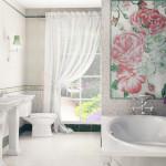Фото 22: Плитка с рисунком в ванной