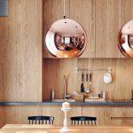 Фото 69: Металлические медные круглые люстры в современном стиле