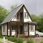 Фото 23: Летний двухэтажный каркасный домик