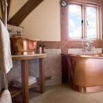 Фото 24: Ванная в медных тонах