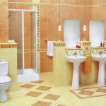 Фото 28: Желто-оранжевая ванная