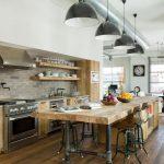 Фото 53: Освещение кухни в стиле лофт