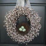 Фото 54: Пасхальный венок с гнездом