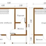 Фото 25: Проект бани 6х6 в два этажа