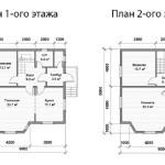 Фото 27: План двухэтажного каркасного дома 9х9
