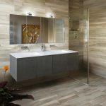 Фото 49: Плитка под ламинат в ванной