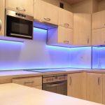 Фото 83: Подсветка фартука на кухне