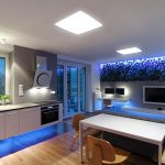 Фото 84: Светодиодное освещение кухни-гостиной