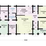 Фото 16: Проект одноэтажного дома 8300х15500