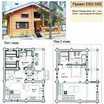 Фото 53: Проект дома из бревна с сауной