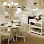 Фото 103: Круглый столик прованс на кухне