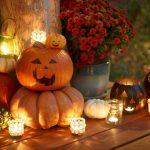 Фото 30: Композиция с тыквой на хэллоуин