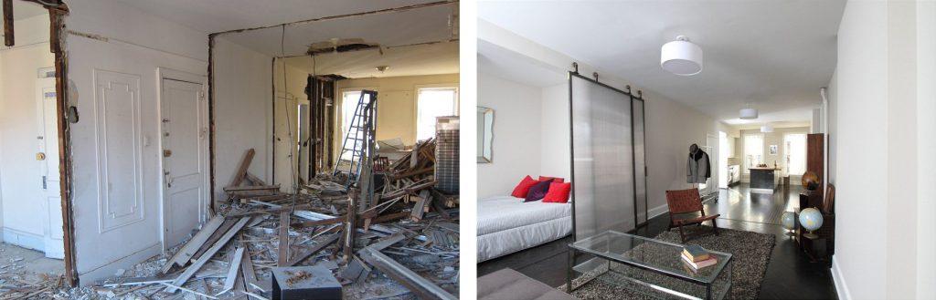 Ремонт квартиры до и после