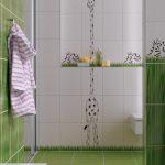 Фото 39: Плитка с детским рисунком в ванной