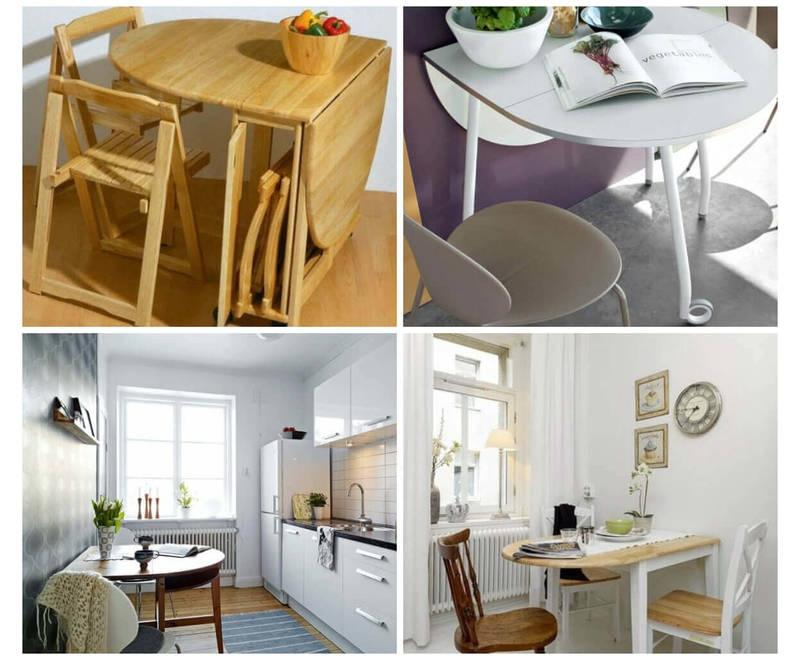 Складные небольшие столики для кухни