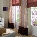 Фото 103: Сочетание римских штор и обычных
