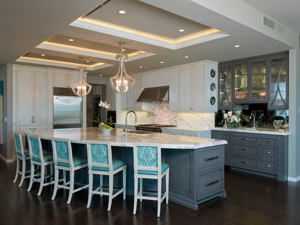 Люстры в стиле арт-деко на кухне