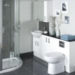 Фото 29: Узкая мебель для маленького пространства ванной