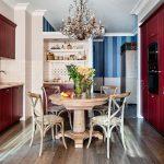 Фото 70: Круглый стол по центру кухни