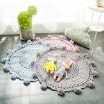 Фото 64: Вязаные коврики крючком круглые
