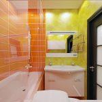 Фото 106: Яркая плитка в ванной