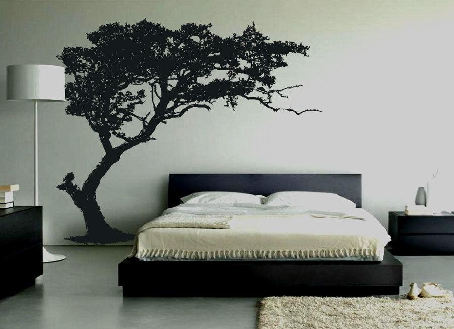 Декоративная наклейка в спальне