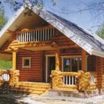 Фото 27: Небольшой деревянный дом с балконом