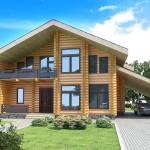 Фото 16: Деревянный дом с балконом из бревна