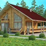 Фото 20: Деревянный дом с большими окнами