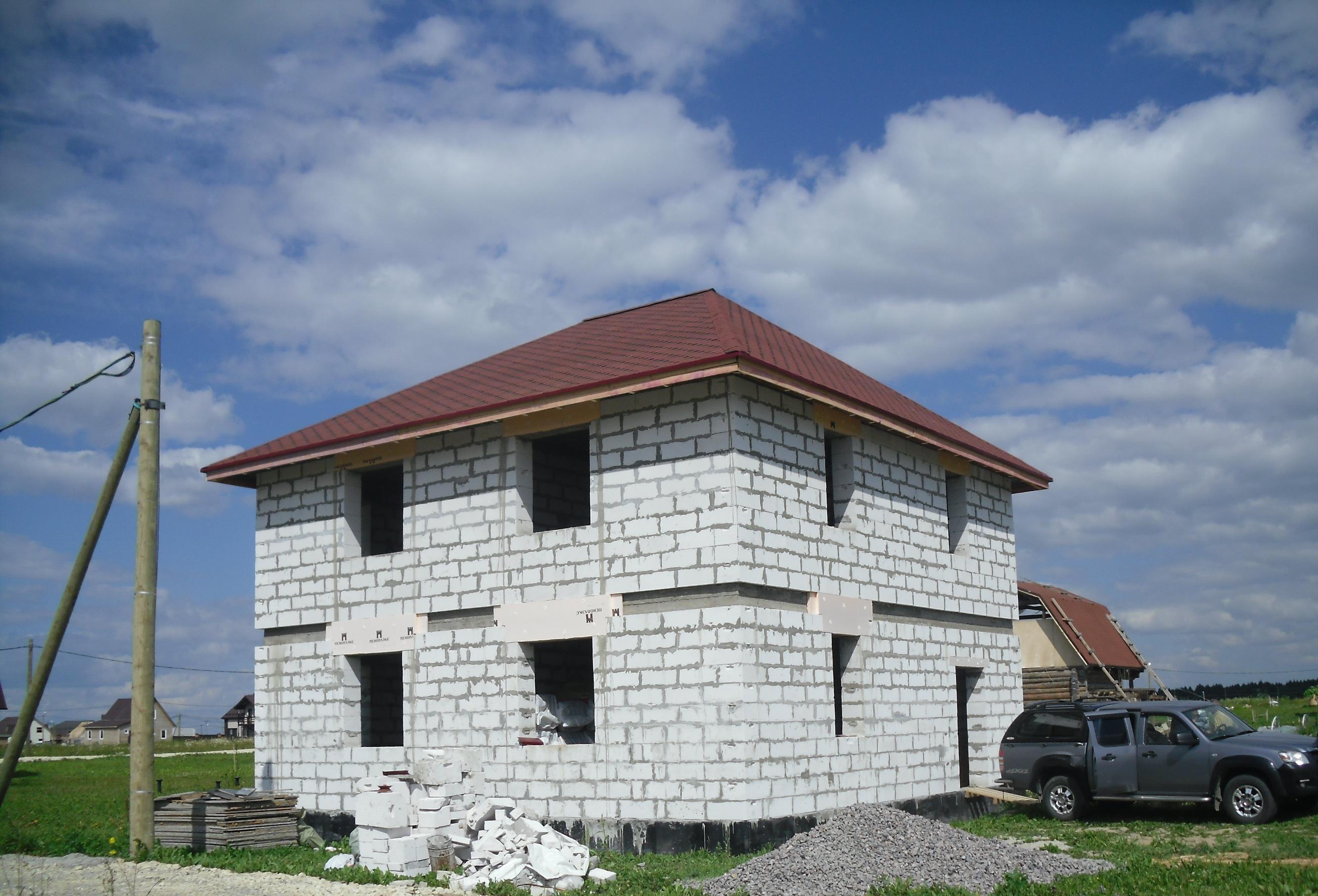 Картинка домов из газоблока