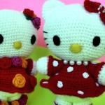 Фото 27: Игрушки Хеллоу Китти вязаные